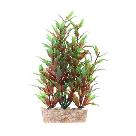 Plantas de plástico para acuario, decoración, hierba de agua para pecera.