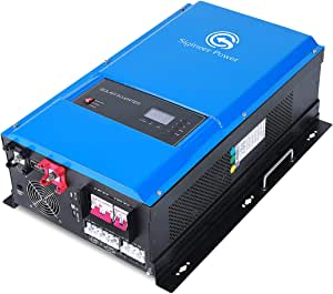 Sigineer Power Solar Inverter,12000W 48V DC to 120V 240V AC Pure Sine Wave Output,Split Phase,Low Frequency,36000W Surge,Built-in 120A MPPT Solar Charge Controller,for Off Grid PV Power System