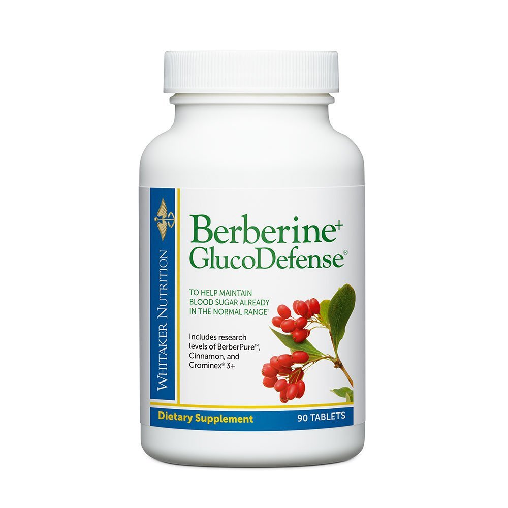 Dr. Whitaker's Berberine+ GlucoDefense Supplement with Berberine, Crominex 3+ Chromium, and Cinnamon - Support for Healthy Blood Sugar and Insulin Sensitivity (90 Tablets)
