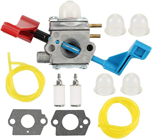 Carburetor For C1U-W12A Poulan FL1500 Blower air filter fuel line primer bulb