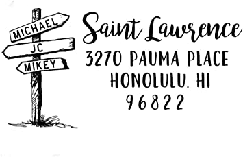 wedding christmas personal rubber stamp, Custom Return Address Stamp customized as a personal gift for holidays housewarming gift