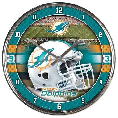 NFL Miami Dolphins Chrome Clock ()