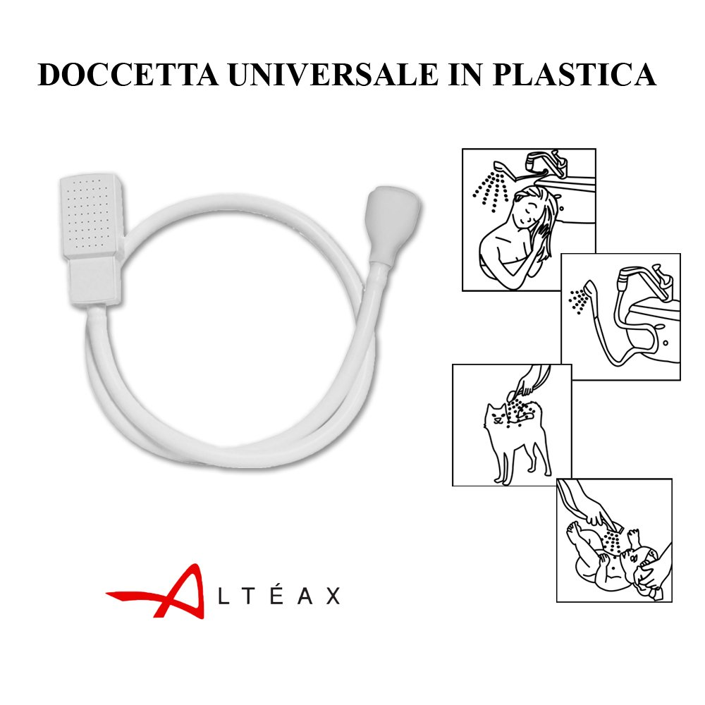 DOCCETTA UNIVERSALE ALT/ÉAX/® IN PLASTICA CON ATTACCO UNIVERSALE PER LAVABO E LAVATESTA PORTATILE