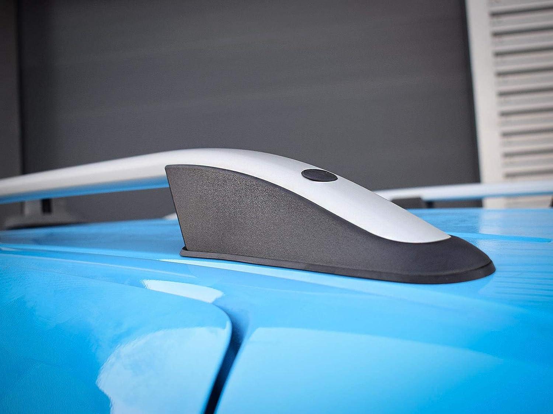 VY57133 2010 on Van Demon Aluminium Silver Roof Rails Bars Pair for Fiat Doblo