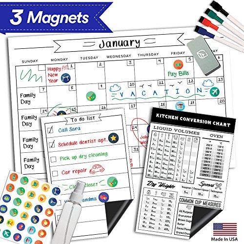 Magnetic Dry Erase Refrigerator Calendar - 17