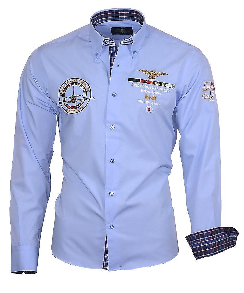 9122a6065e95 Louis Binder de Luxe 821 Herren Hemd modern fit  Amazon.de  Bekleidung
