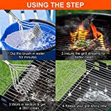 Ylovetoys Grill Brush, Bristle Free BBQ Grill Brush Stainless Steel BBQ Brush for All Grill Types - Premium Grill Brush for BBQ, Best Grill Accessories for BBQ/Weber Grills