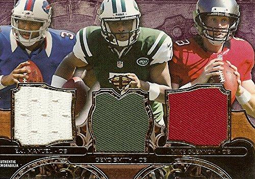 - Football NFL 2013 Triple Threads Purple Relics Trios #TTRT-MSG E.J. Manuel/Geno Smith/Mike Glennon MEM 24/27