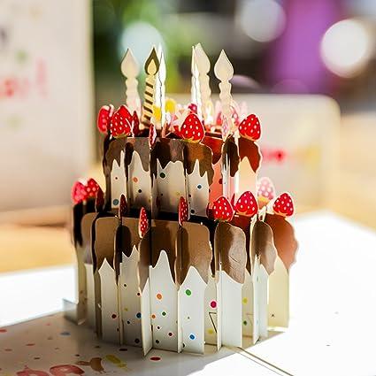 Papel spiritz tarta de cumpleaños Pop Up Tarjetas cumpleaños ...