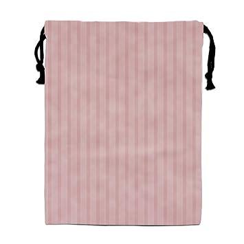 339e7bc237ab Amazon.com: Pink Stripe Drawstring Bag for Girls Print Backpack ...