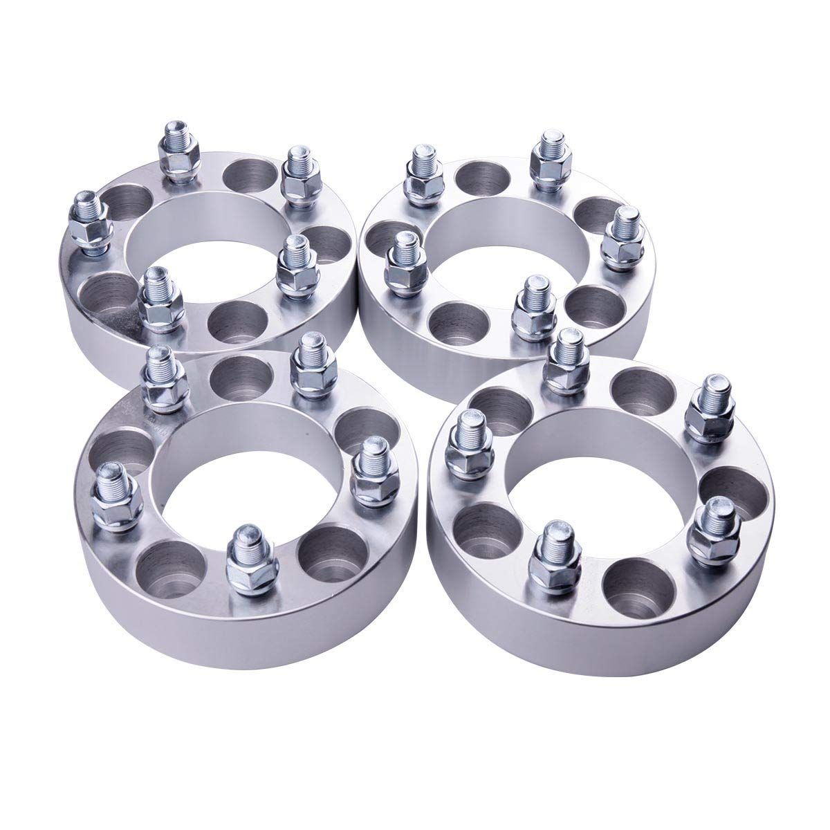 127mm 1 87.1mm Wheel Adapters Fit for Jeep Commander Grand Cherokee Wrangler with Thread Pitch 1//2 PUENGSI 5 Lug Wheel Spacer 5x5 to 5x5