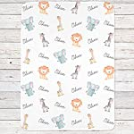 Safari-Animals-Personalized-Baby-Blanket-Safari-Nursery-Custom-Name-Blanket-White