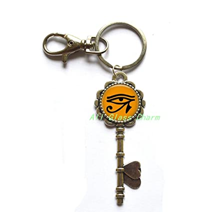 Egipcio Ojo de Ra clave llavero clave clave Anillo - Egipto ...