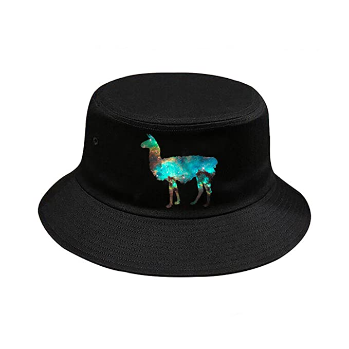 a07f3cb079b Image Unavailable. Image not available for. Color  Galaxy Llama Bucket Hat  Headwear Summer Beach ...