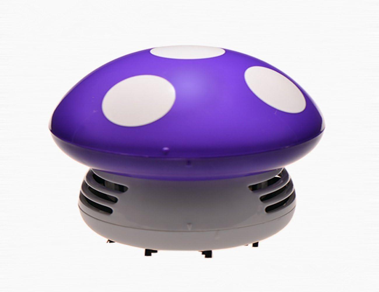 Cute Cartoon Mushroom portátil Mini limpiador de escritorio/funciona con pilas aspirador de escritorio Mini polvo limpiador: Amazon.es: Hogar