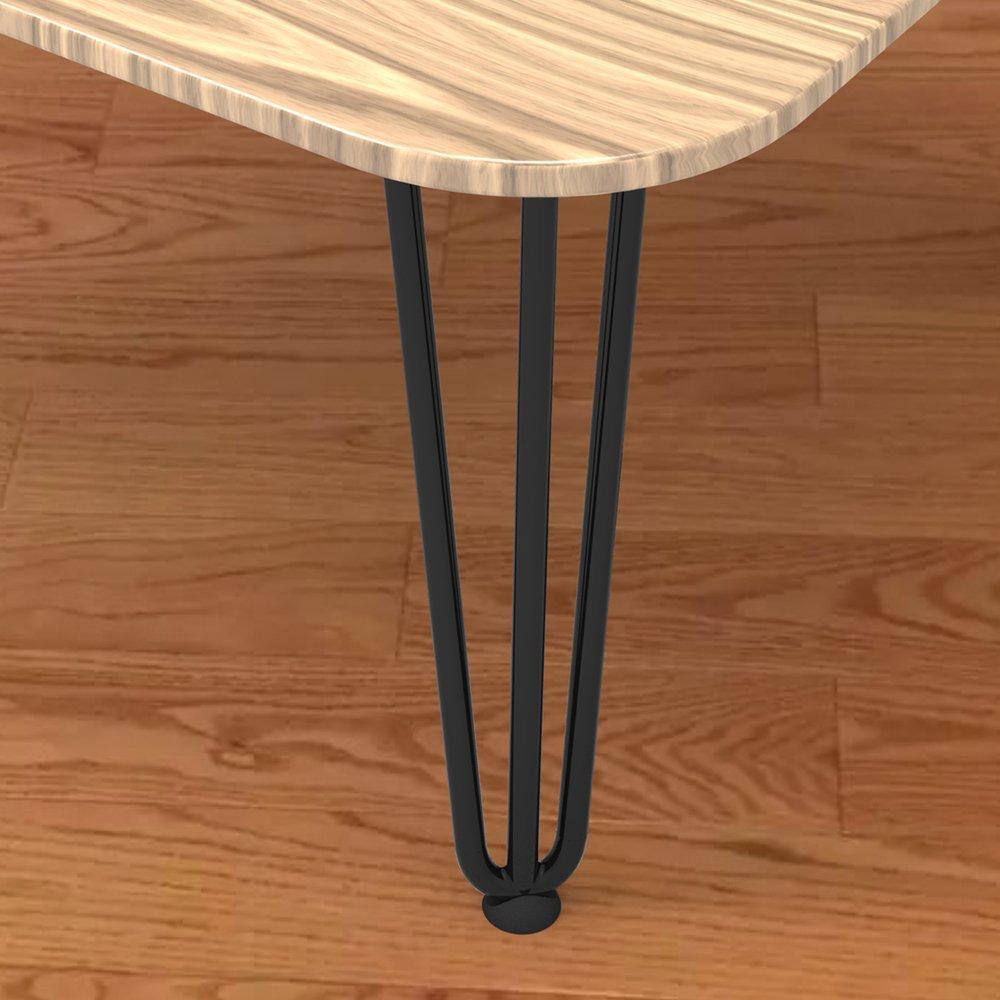 HENGMEI 4X36cm 3 varillas Pies para mesa y mueble patas de acero robustas DIY muebles de metal piernas para mesa de comedor y escritorio Negro