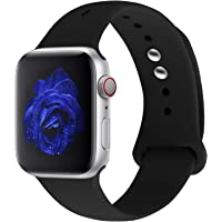 Straper For Apple Watch Strap 38mm 42mm, Premium Soft Silicone Watch Band Breathable Holes Replacement Wristbands for iWatch Apple Watch Strap Series 4 Series 3 Series 2 1 NIKE Sports and Edition