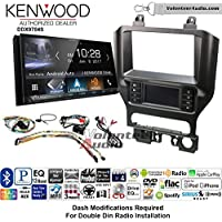Volunteer Audio Kenwood DDX9704S Double Din Radio Install Kit with Apple Carplay Android Auto Fits 2015-2017 Mustang