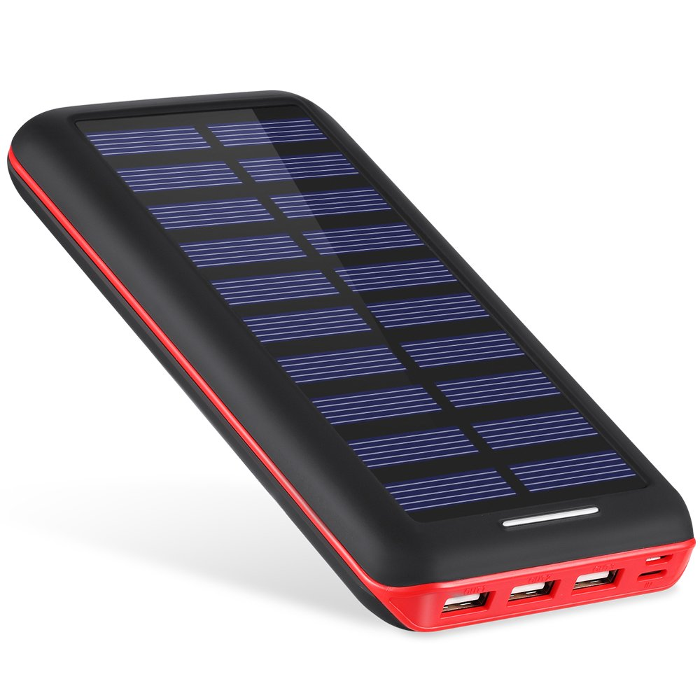 Battery Pack AKEEM Portable Charger 22000mAh External Battery Power Bank with Dual Input Port and Solar Charger,3 USB Ports for iPhone, iPad, Samsung Galaxy, Android and other Smart Devices by AKEEM