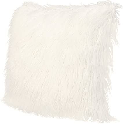 Icosy Fluffy Pillow Case Mongolian Faux Fur Pillow Cover Super Soft Plush Throw Pillows Fluffy Throw Pillow Cushions Decorative Cushion Covers 45x45cm No Insert Amazon Co Uk Kitchen Home