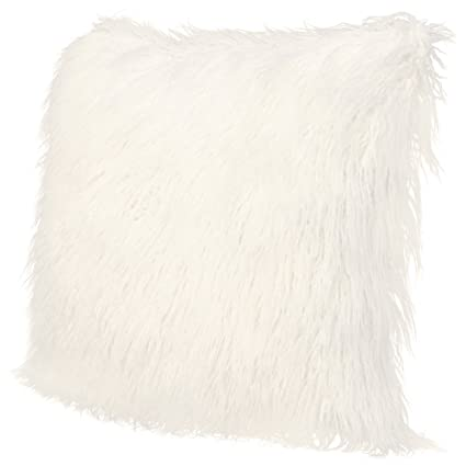 icosy fluffy pillow case mongolian faux fur pillow cover super soft plush throw pillows fluffy throw - Mongolian Faux Fur Pillow