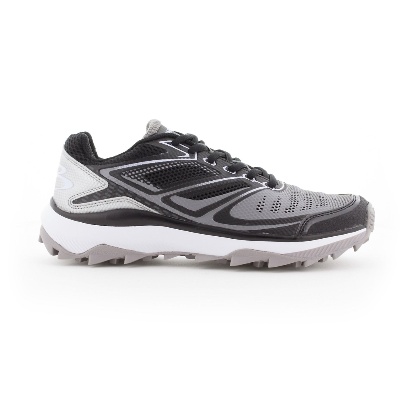 Boombah Men's Turbine Turf Shoes - 20 Color Options - Multiple Sizes B076JPYXV1 12|Black/Gray