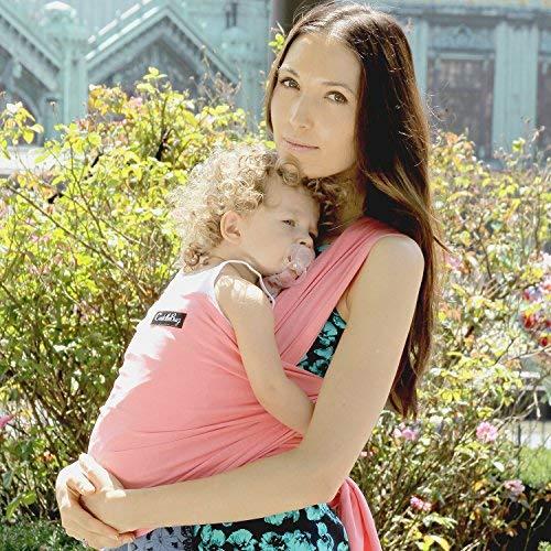 27aa5f0a8ea3 GARANTIE À VIE - Porte bébé CuddleBug - Écharpe de portage grise pour bébé  - ENTIÈREMENT NATURELLE - Livraison gratuite - Taille Unique - Satisfaction  ...