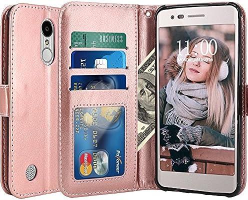 LG Aristo Case, LG Phoenix 3 Case, LG K8 2017 Case, LG Fortune Case, LG  Risio Case, LG Rebel 2 LTE Case, LK Luxury PU Leather Wallet Flip  Protective