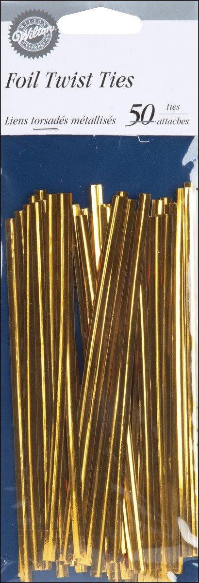 "Wilton Twist Ties 5"" 50/pkg-gold"