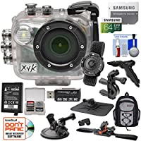 Intova X4K Marine Grade Wi-Fi 4K HD Action Camera Camcorder with Video Light & Remote + Battery + 64GB Card + Action Mounts + Backpack + Grip/Tripod Kit