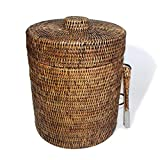 Saffron Trading Company Large Ice Bucket Round w/ Liner 10.25''x12''H - Antique Brown