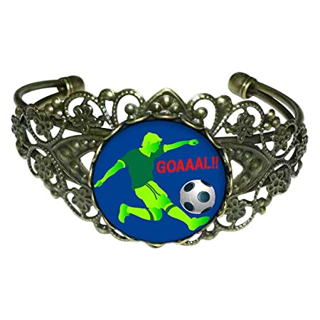 Estilo Retro de bronce GiftJewelryShop UEFA Euro atleta con balón ...