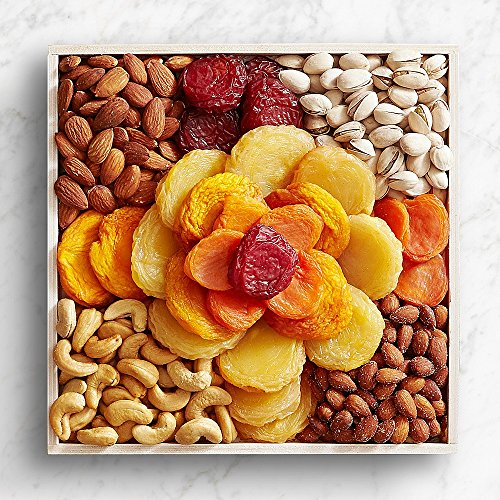 Shari's Berries – Dried Fruit & Nut Rose Gift Tray – 1 Count – Gourmet Fruit Gifts