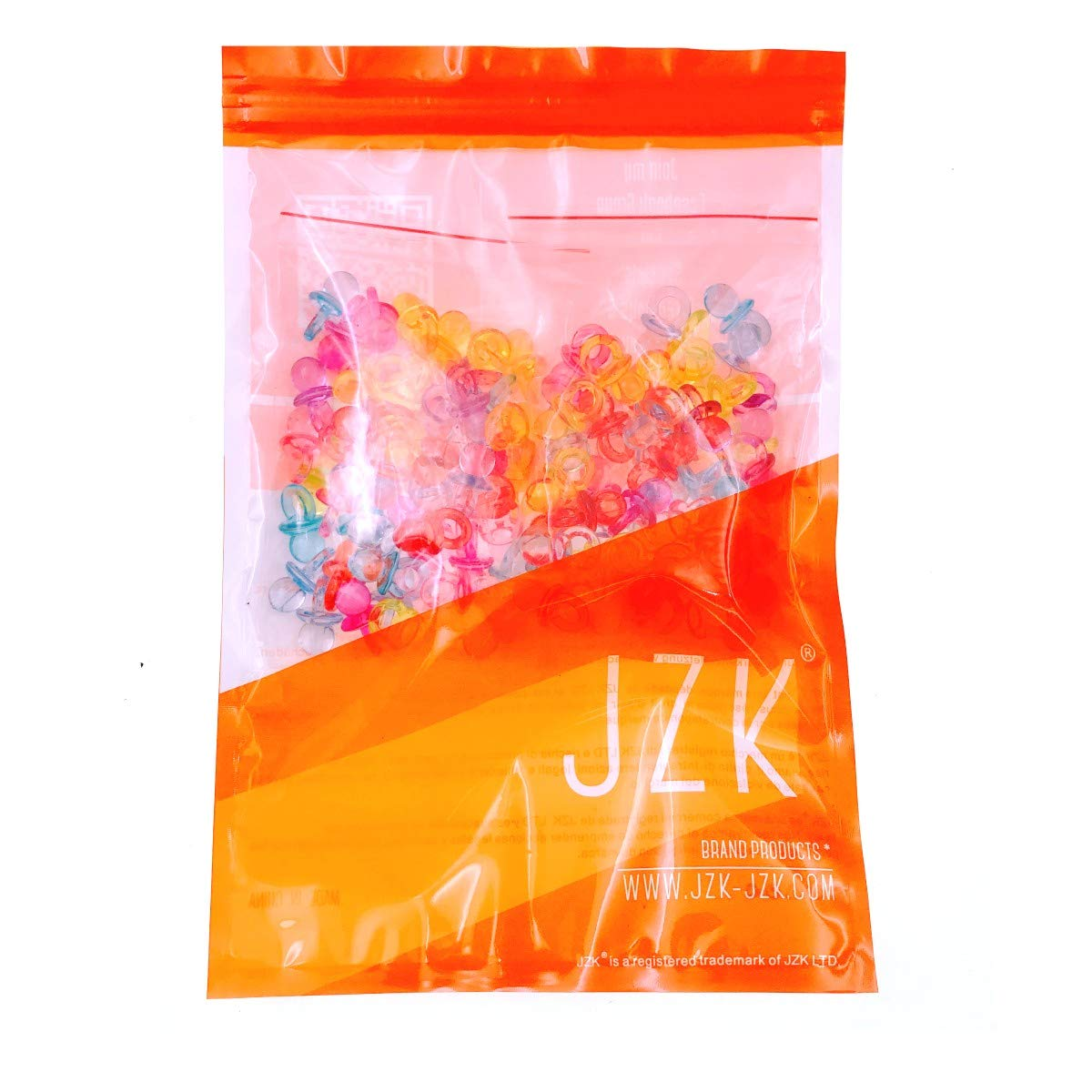 JZK100 x Mini Chupete Chupete chupetes acrílicos, Confeti dispersión Mesa para Bautizo Baby Shower Boda cumpleaños Fiesta