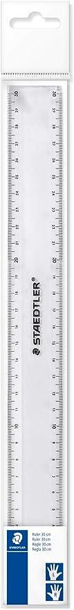 Staedtler 562 300 PB TH Flat Ruler Plastic 300 mm Clear