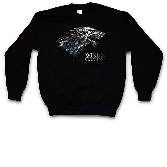 JEMASHOP Sudadera SIN Capucha Negra Inspirada EN Juego DE Tronos. Logo Stark. Winter IS