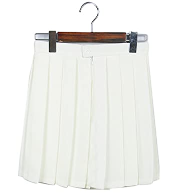 8c6f02f83 Dapengzhu 2018 Mini Skirt High Waist Pleated Skirts JK Student Girls Solid  Pleated Cute School Uniform