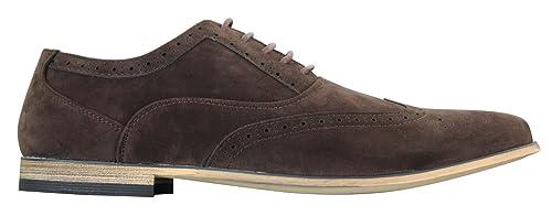 Chaussures Richelieu à lacets cuir daim marron bleu marine noir rouge rétro  habillé décontracté homme 7435143d5d66