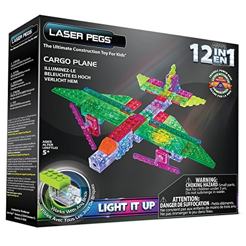Laser Pegs 12-in-1 Cargo Plane Building Set