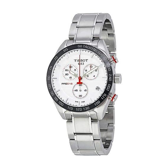TISSOT PRS 516 RELOJ DE HOMBRE CUARZO 42MM CORREA DE ACERO T100.417.11.031.00: Amazon.es: Relojes