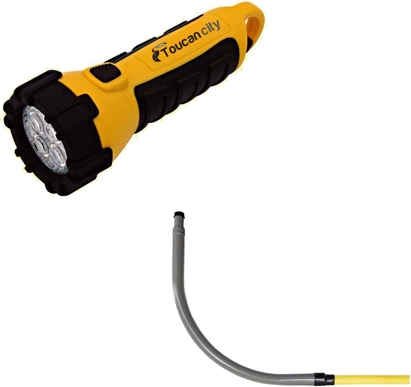 Toucan City LED Flashlight and HOME-FLEX 1-1/4 in. IPS Poly DR 11 to 1-1/4 in. MIP Underground Meter Riser Bent 18-440-012