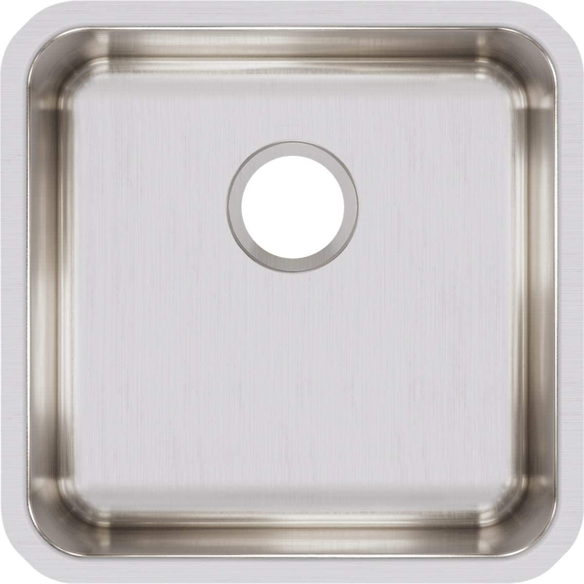 Elkay ELUH1616 Lustertone Classic Single Bowl Undermount Stainless Steel Sink