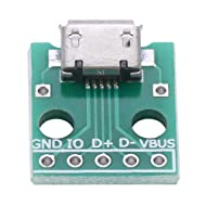 USB to DIP Board, USB Type A Male Plug to DIP Adapter Board 4 Pin 2.54mm Pitch Adapter for DIY USB Power Supply Breadboard Design 10Pcs