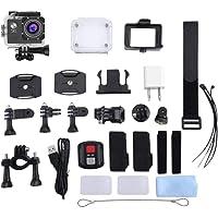 Sunnyday Cámara de acción 4K WiFi 170 Grados Gran Angular Deportes DV cámara Impermeable