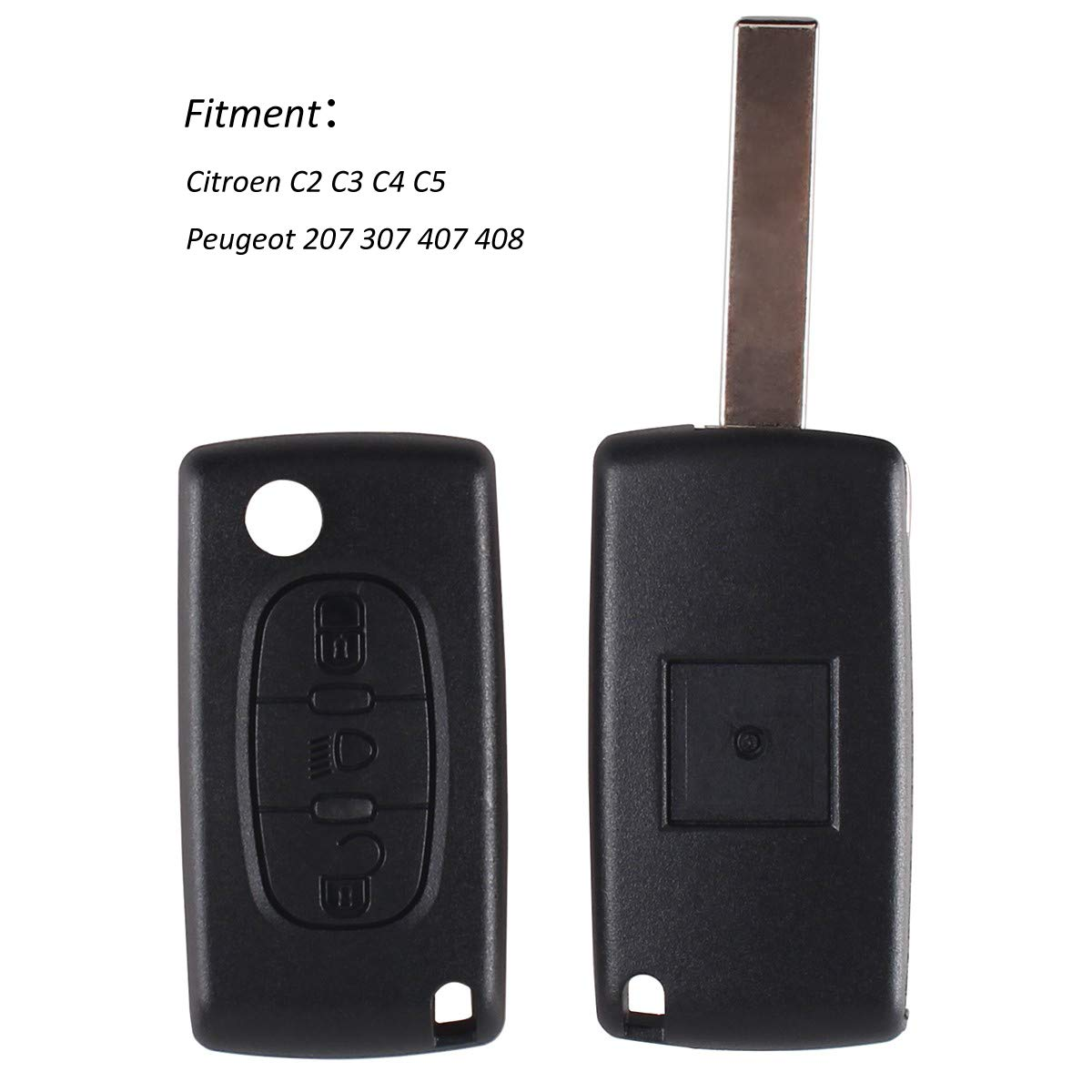 Auto et Moto 3Bouton clé fob Télécommande à rabat pour Citroen C2C3C4C5C6C8XSARA PICASSO