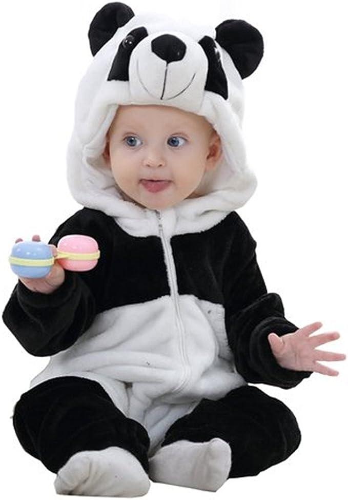COOKY.D B/éb/é /à Capuchon Barboteuse Hiver Automne Flanelle Animal Costume dhalloween 0-24 Mois