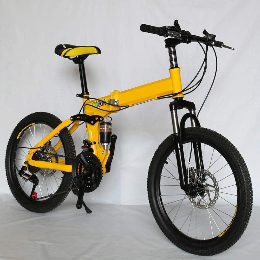 Bicicleta Plegable De 26 Pulgadas Bicicleta De Montaña 21/24/27 Velocidad Bicicleta para Niños Dos Frenos De Disco para Mujer Coche 40 Cuchillo Rueda Rueda De Bicicleta Bicicleta Plegable