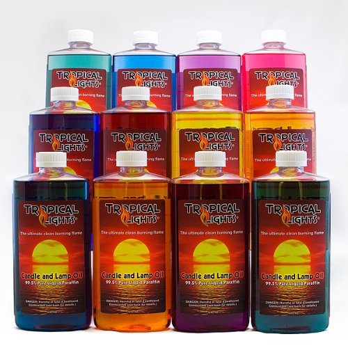 Candle And Lamp Oil (Set Of 12 Colors) Tropical Lights Collection   Island  Light Fixtures   Amazon.com