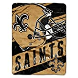 The Northwest Company Officially Licensed NFL New Orleans Saints Deep Slant Micro Raschel Throw Blanket, 46' x 60', Multi Color