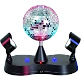 Kicko Disco Light - Multi-Colored LED Revolving Strobe Light Ball - for Stage Lights, Event and Party Props, Home Decor, Game Accessories, and Stress Reliever